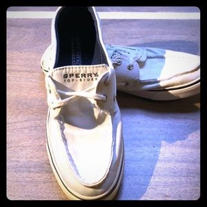 White Sperry Topsiders! Women's 7
